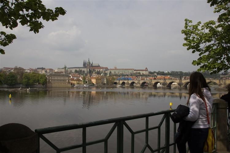 Prágai látkép a Kisoldalról