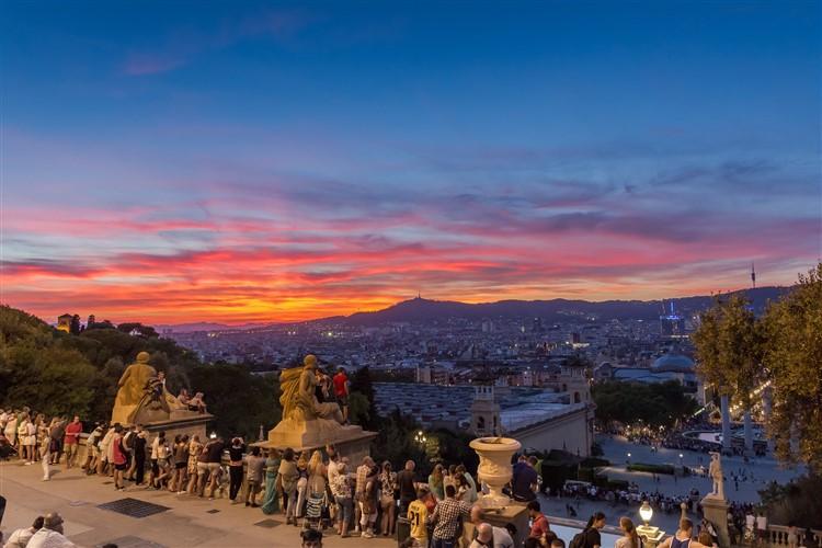 Csodás kilátás Barcelonában a Montjuicról