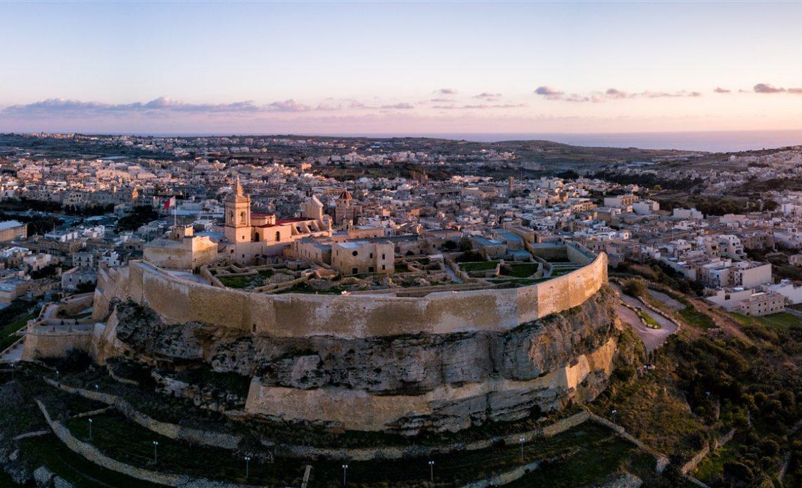 Naplemente Gozo szigetén