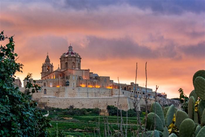 Mdina, a Csendes város Máltán