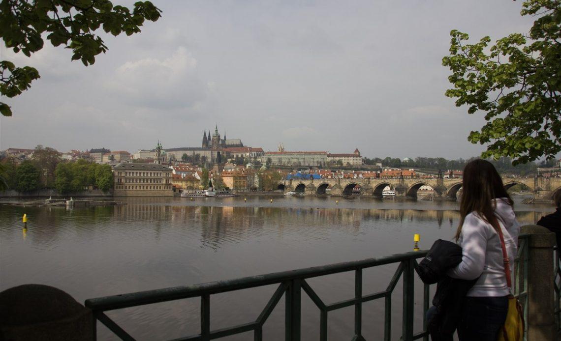 Prága látképe a Kisoldal felől